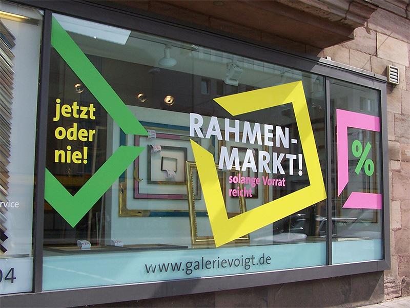 Schaufensterbeschriftung Nürnberg Aufkleber Klebebuchstaben Fensterfolien